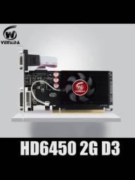 Placa de vídeo GPU AMD Radeon HD6450 2GB GDDR3