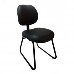 Cadeiras para Esritorio Secretaria Base Trapézio Nova Espuma Injetada