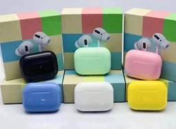 Fone de ouvido Bluetooth Airpods colors - Até 6x sem juros!