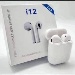Fone De Ouvido  I12 Tws Sem Fio V5.0 Bluetooth Para Android Iphone