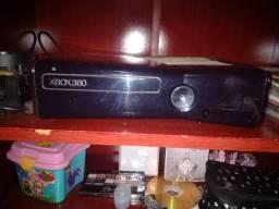 Xbox 360 com manete + Televisão tubo de tela plana + 10 jogos