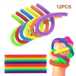 12 Pcs Macarrões Elásticos Brinquedo Sensorial Lançamento