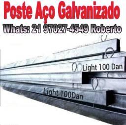 Poste Padrão Light De Aço Galvanizado 6 e 7,5 mtrs. Parcelamos no Cartão