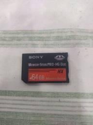 Título do anúncio:  Memory stick Sony original 64GB 200