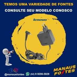 Fonte do Notebook Lenovo Ponta Fina com Garantia de Três Meses