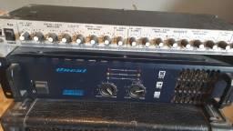 Amplificador oneal op2300 + crossover