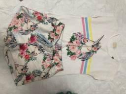 Conjunto de short e blusa TAM 10