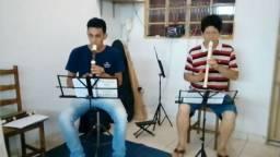 Flauta soprano e contralto em grupo ou individual