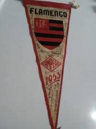 Flâmula autografada Flamengo - Campeão 1953
