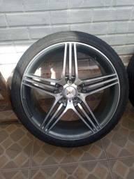 Rodas aro 20 com pneus meia vida