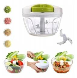 Título do anúncio: Mini Processador Alimentos Manual, Verduras, Legumes 3 Lâminas Triturador