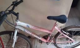 Bicicleta femina aro 24, 18 marcha