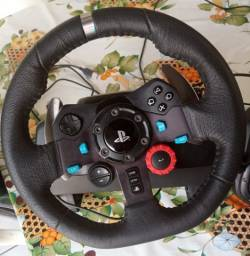 Volante Logitech G29 + Marcha para Playstation e PC