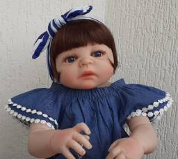 Bebê Reborn Keiumi Toda em Silicone, Menina 57 cm Completa Disponível md2