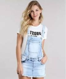 Jardineira Short Saia Jeans 38