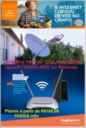 Internet Rural via satélite