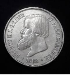 Vendo moeda de 2000 Reis do ano de 1888