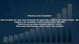 StartUp precisa de investidor! investimento investir lucro negocios sociedade capital