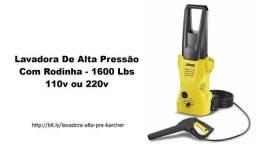 1 Lavadora De Alta Pressão Com Rodinha - 1600 Lbs 110v ou 220v