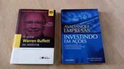 Livros sobre investimento em ações.