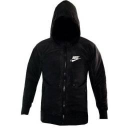 Jaqueta Preta Nike Toda Forrada 2 Bolsos Corta Vento Nova