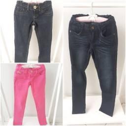 Lote calças infantil feminina Tam 8 * excelente estado *