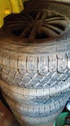 5 rodas r 16 Triton pneus mais de 80 %