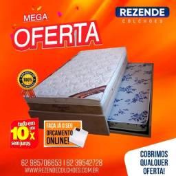 :: Promoçao Cama Box Com Auxiliar Solteiro + Colchao Ortobom Molas pocket 88x188