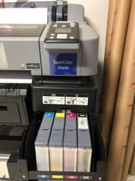 Impressora F6370 zera e uma prensa