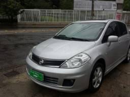 Nissan Tiida Sl Prata Automatico C/Gnv Top C/Teto - 2012