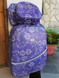 Conjunto mala + bolsa + Frasqueira