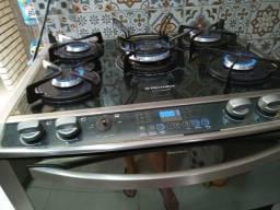 Fogao eletrolux mesa de vidro tripla chama 2 fornos
