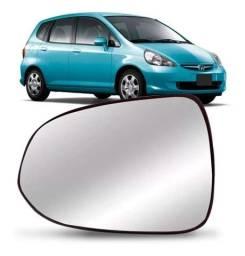 Lente Com Base Retrovisor Honda Fit 2003 a 2008 Direito