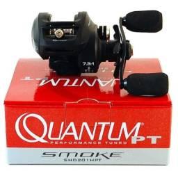 Nova Carretilha Quantum® Smoke Hd Shd 201 Spt 7.3:1 Drag:12kgs- Esquerda