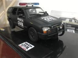 Miniatura customizada Blazer da polícia civil mg