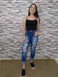 Calça jeans rasgata