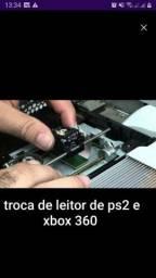 TROCA DE LEITOR DE XBOX 360 E PS2
