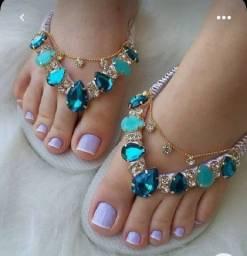 Título do anúncio: Sandálias personalizadas com nome