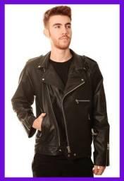 Título do anúncio: Jaqueta de Couro Masculina 100% Legítimo Original - Modelo Motoqueira