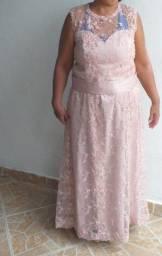 Vestido rosa claro para mãe da noiva/madrinha