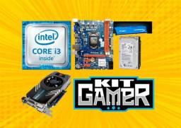 Kit Gamer Intel i3 com placa de vídeo Dedicada
