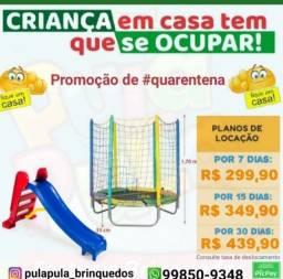 Super Promoção: Aluguel de pula pulas + brinquedos por 7, 15 e 30 dias