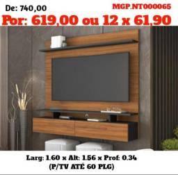 Painel de televisão até 60 Plg-Painel Grande- Sala de Estar- Painel de TV