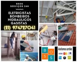 Instalação elétrica, Relógios,Hidrômetro, caixas de água, Tubulação gás
