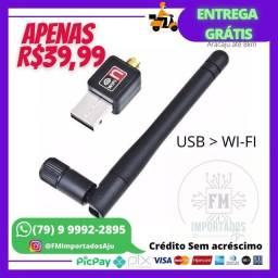 Antena Wi-Fi USB 1200mb/s. ENTREGA GRÁTIS AJU