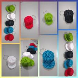 Chaveiros de crochê