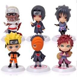 Bonecos Naruto Anime 6 personagens 8 cm
