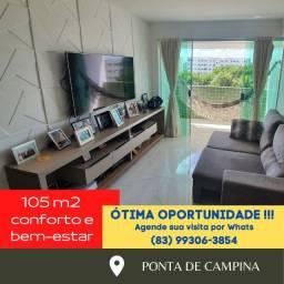 Apartamento em Ponta de Campina 105m2 - Oportunidade Sensacional!