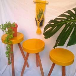 Trio Mesinhas Decorativas em promoção