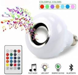 Lâmpada Que Toca Música Via Bluetooth, Muda de Cor Rgbw Dj